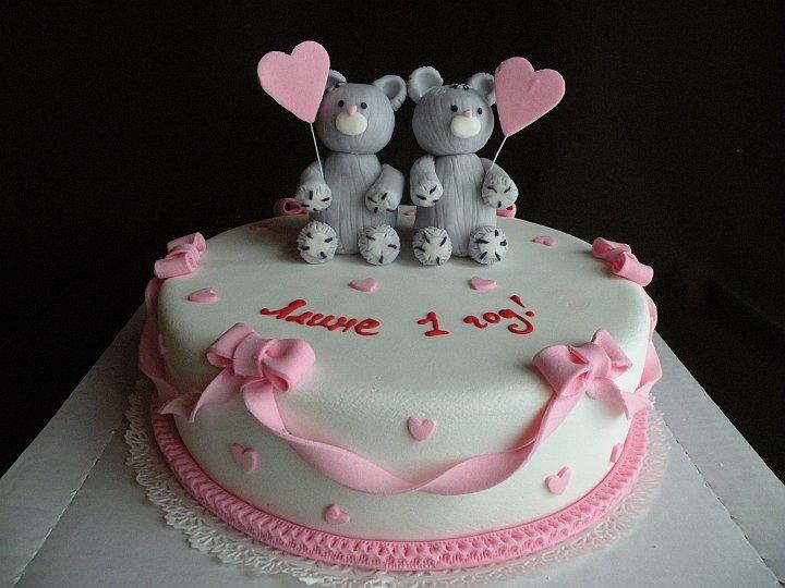 Фото тортов для разнополых двойняшек