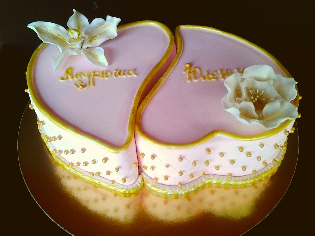 Фото торта со свадьбы