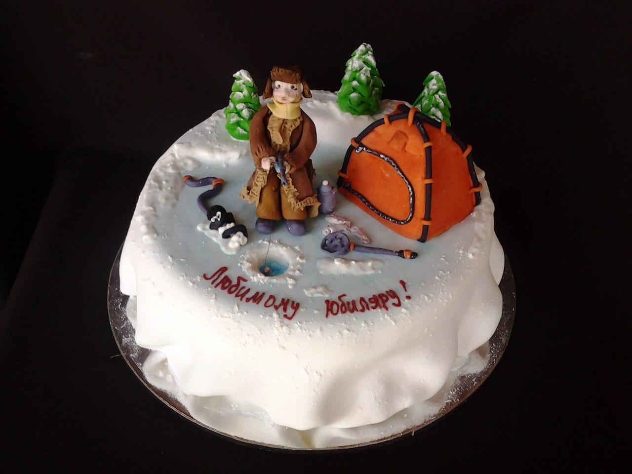 торт рыбаку на день рождения фото кремовый на 30 лет