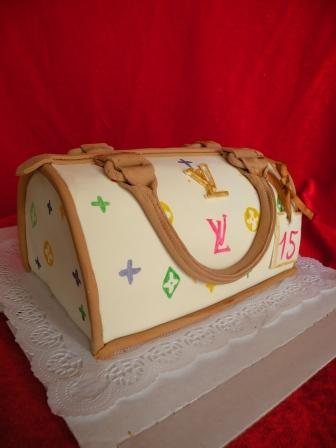 """Торт  """"Сумочка от Луи Витона  """" - 2 кг."""